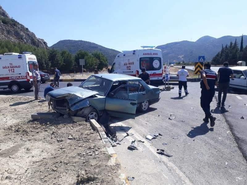 Kızılkaya kavşağında trafik kazası