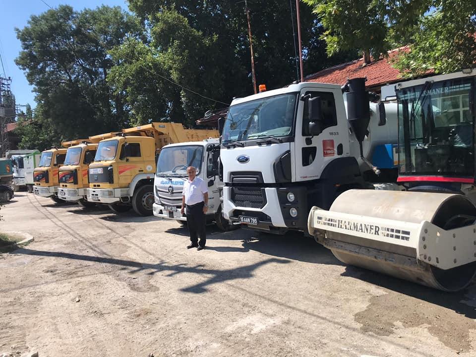 Ağlasun Belediyesi'nin araç filosu güçlendi