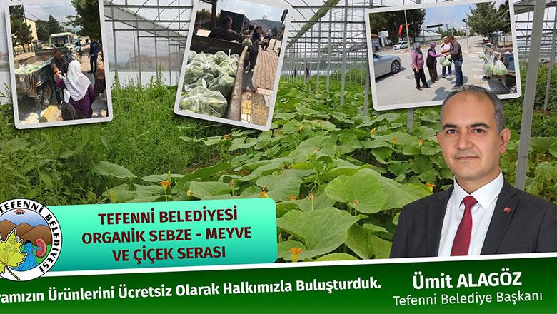 Tefenni Belediyesi ilk ürünleri halka ücretsiz dağıttı