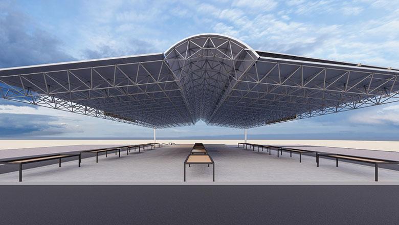 Bucak'a uzay çatı pazar yeri müjdesi