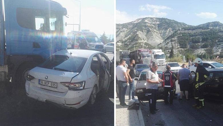 Burdur'da zincirleme trafik kazası