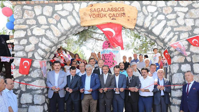 Sagalassos yörük çadırı hizmete açıldı