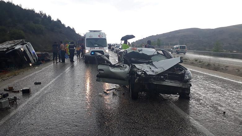 Çavdır'da trafik kazası