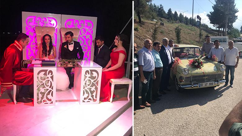 Genç çift Çendik Motel'de evlendi