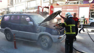 Burdur'da cip yandı