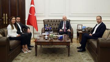Deniz Kurt'tan Bakan Süleyman Soylu'ya ziyaret