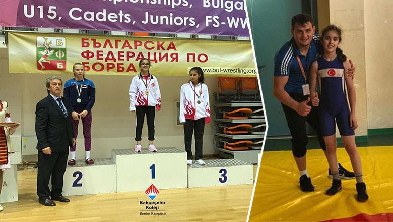 Burdurlu öğrenci Balkan Şampiyonu oldu