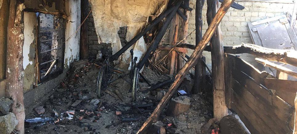 Engelli yaşlı adam yangında hayatını kaybetti