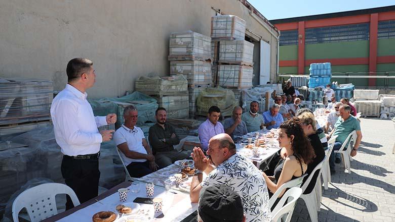 Başkan Ercengiz, Mahrukatçılar Sitesi Esnaflarıyla buluştu