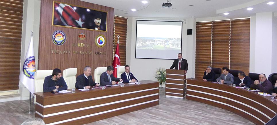 Başkan Ercengiz BUTSO Meclis toplantısına konuk oldu
