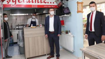 Başkan Ercengiz'den esnaflara ziyaret