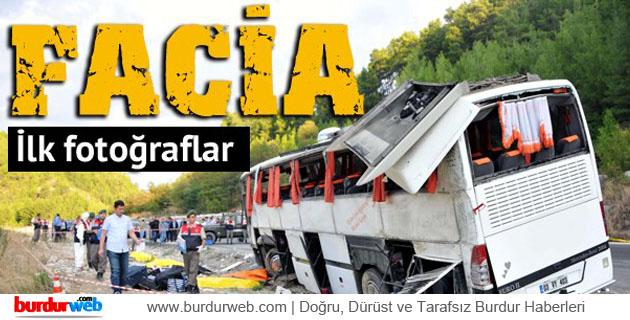 Karacaören'deki Otobüs Faciasından Kareler
