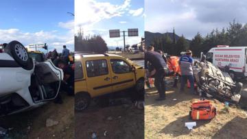 Burdur'da feci trafik kazası