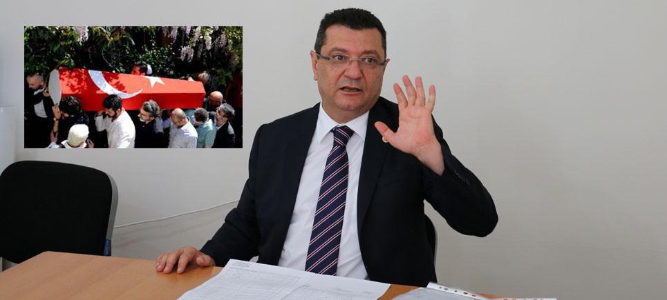 CHP Milletvekili Göker tabuta sarılan Türk bayrağını sordu
