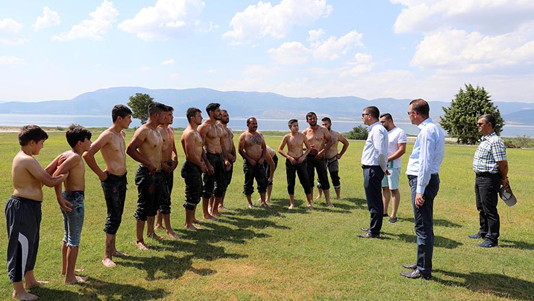Burdur Belediyesi güreş hazırlıkları başladı