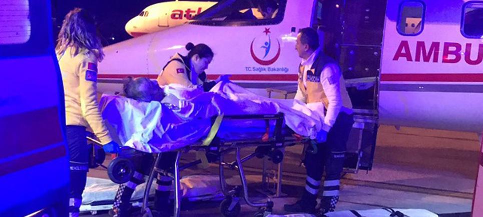 Yaralananlar hava ambulansı ile sevk edildi