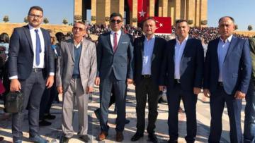 Başkan İlkay Güngör 10 Kasım'da Atamızın huzurunda