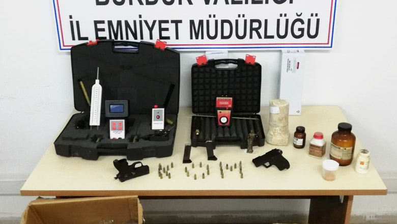 Burdur'da radyoaktif madde ele geçirildi