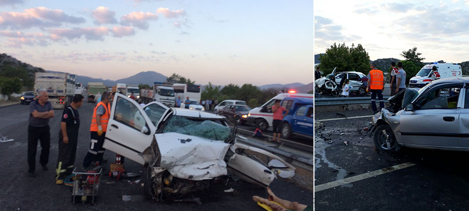 Burdur Bucak'ta feci trafik kazası: 5 Ölü