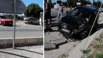 Burdur sanayi kavşağında trafik kazası