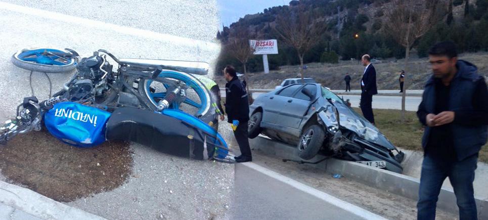 Burdur'da feci trafik kazası: 1ölü