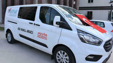 Burdur'a İkinci Aşı Nakil Aracı