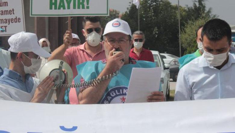 """Burdur'da sağlık çalışanları """"Artık yeter!"""" Dedi"""