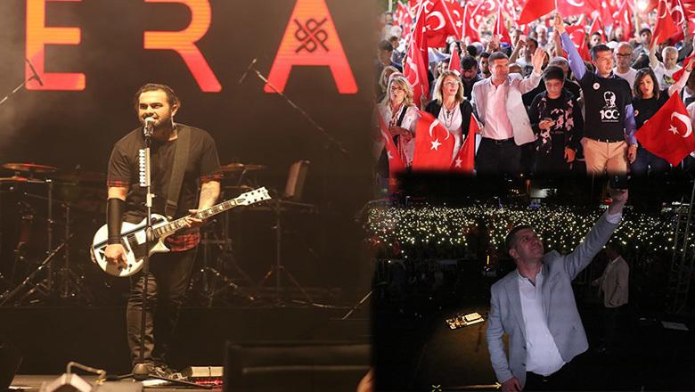 Burdur'da gençler Pera konseriyle coştu