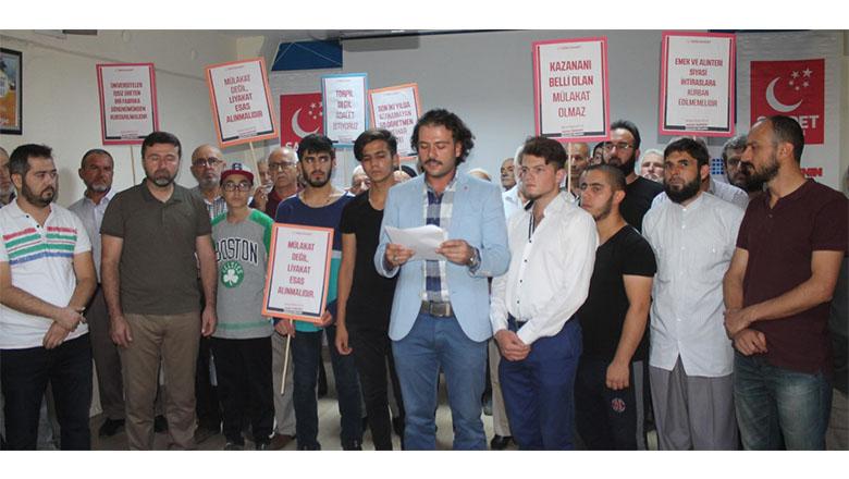 """Genç Saadet: """"Ankara'da dayısı olmayan, ortada kalmasın"""""""