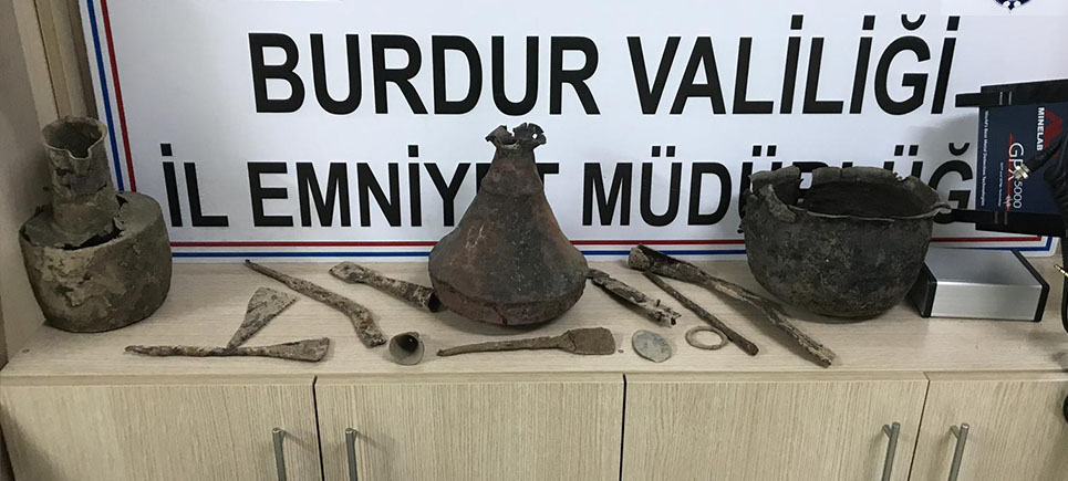 Burdur'da tarihi eser operasyonu