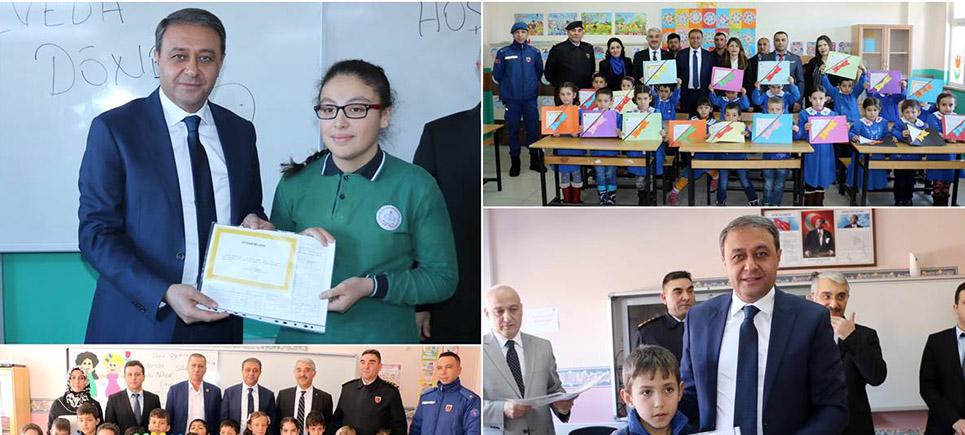 Burdur'da öğrencilere tatil heyecanı