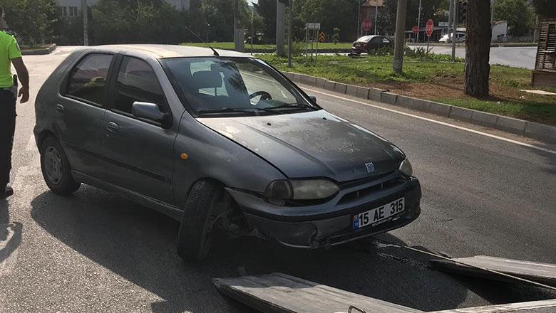 Tugay kavşağında trafik kazası