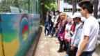 Burdur'da okul bahçe duvarı sanata dönüştü