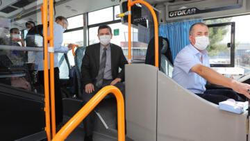 Burdur Valisi Arslantaş, halk otobüslerini denetledi