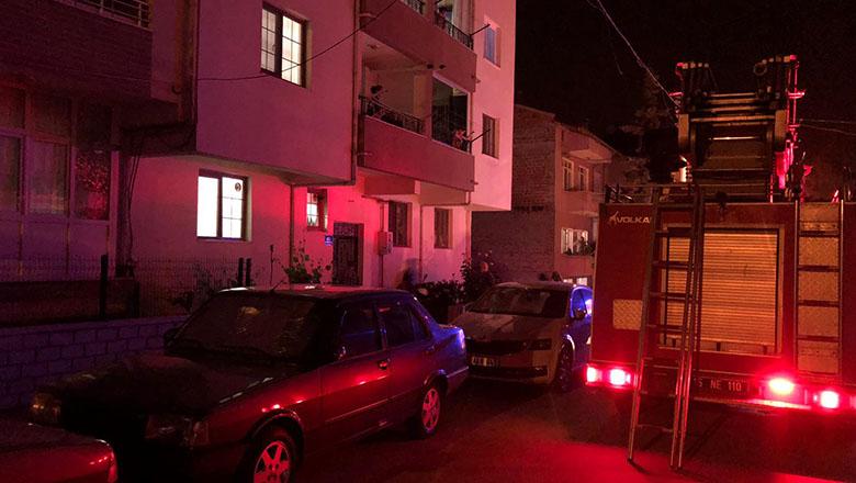 Burdur'da yaşlı kadını itfaiye kurtardı